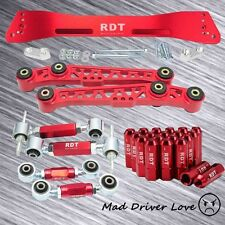 94-01 ACURA INTEGRA REAR SUBFRAME +LOWER CONTROL ARM +CAMBER +TOE +LUG NUT RED