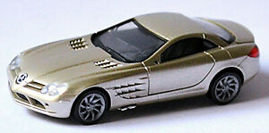 Mercedes Benz SLR Mclaren Coupe 2003-09 Coronadit Gray 1:87 Herpa 033206