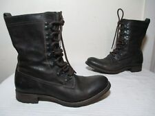 N.D.C 'WHITESTAR R' CUSNA BOOTIE BROWN LEATHER COMBAT BOOTS EU 37 US 7