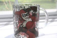 1x  Harley Quinn Split Batman Logo Glass Coffee Mug, 17.5-oz~ 517 ml