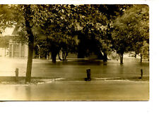 House in Flood Water-Small Town Lyndon-Kansas-RPPC-Vintage Real Photo Postcard