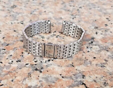 18mm Straight End Solid 316L Stainless Steel Metal Watch Bracelet Woman Man+Pins