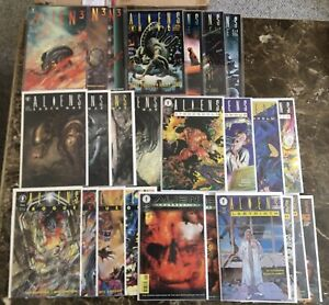 Dark Horse Aliens Comic Set Lot Earth War Hive Labyrinth Stronghold & More VF/NM
