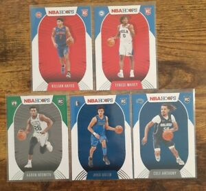 (5) 2020-21 NBA Rookie Cards - Hayes, Maxey, Nesmith, Green, Anthony, + 9 Hoops