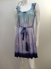 Forever New sz 6 Light Stretch Tie Dye Dress w Sash