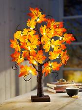 LED Baum Lichterbaum Dekobaum Lichterbäumchen Ahorn Blätter Herbstdeko 60cm Deko
