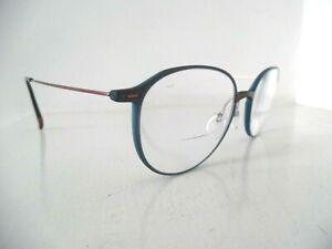 Silhouette Bronze & Blue Round/Oval Rimmed Eye Glasses SPX 290975 6040 48 145