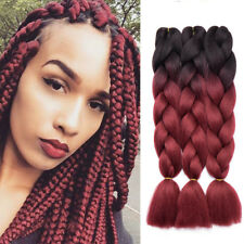 "24"" Afro Twist Braids Ombre Synthetic Kanekalon Jumbo Braiding Hair Extensions"