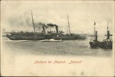 Netherlands - Mailboat Mailboot der Maatsch Zeeland Ship c1905 Postcard