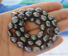 z6256 9mm black baroque freshwater pearl necklace 17inch