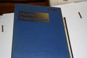 MODEL RAILROADER MAGAZINE FULL YEAR 1981 IN BINDER, MOST ISSUES IN GOOD SHAPE
