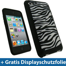 Black Silicone Case Skin for Apple iPod Touch 4g Gen 4te 8/32/64gb Cover Case