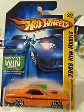 Hot Wheels '70 Dodge Challenger Hemi 2006 New Models Orange Instant Win Card