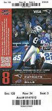 2014 NFL BUFFALO BILLS @ NEW ENGLAND PATRIOTS FULL UNUSED FOOTBALL TICKET