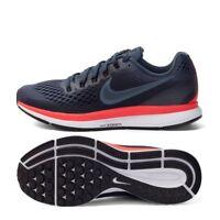 Nike Air Zoom Pegasus 34 Men's 6.5 Running Shoes - Blue Fox Black 880555-403