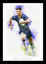 More details for adam hastings - scotland rugby - artwork portrait - a3 print