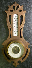 Antikes Barometer mit Thermometer. Voll funktionsfähig.