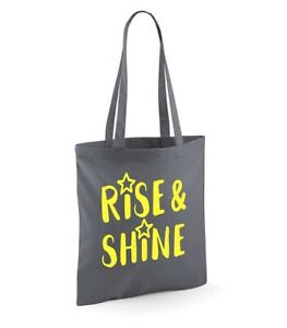 Rise&Shine Tote Shoulder Shopping Bag Reusable Eco Bags