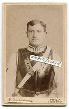 Kabinett-Foto : Gardes du Corps Soldat mit schwarzem Kürass ,Potsdam
