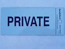 ADHESIVE PRIVATE SIGN 100x50mm STICKS TO ANY SURFACE WEATHERPROOF DOOR PLATE