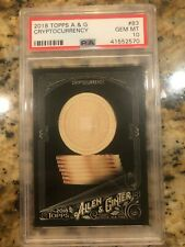 #83 Cryptocurrency 2018 Topps Allen & Ginter X Black Full Size Card PSA 10 BTC