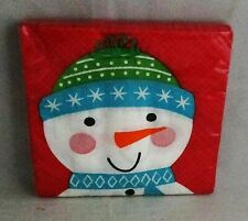 """CHRISTMAS COCKTAIL NAPKINS 20 Ct. 9 4/5"""" X 9 3/4"""" FRIENDS OF SANTA 2 Ply"""