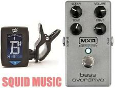 MXR Bass Overdrive Effects Pedal M-89 ( FREE CLIP ON GUITAR TUNER) M89 DUNLOP