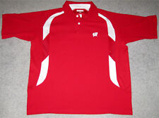 Wisconsin Badgers Antigua Polo Golf Shirt- Size Adult Medium