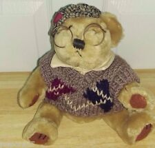 """Brass Button Bear Collection 12"""" Sherwood Sweater and Glasses Bear"""