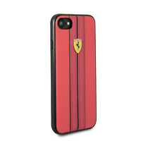 Ferrari PU Leather Case for iPhone 7 and iPhone 8 Hard Case Red Drop Protection