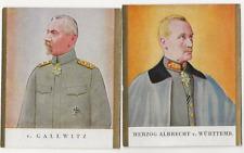 62/491 SAMMELBILD HERZOG ALBRECHT v. WÜRTTEMBERG + v. GALLWITZ GENERAL ORDEN