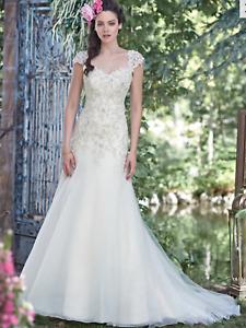WEDDING DRESS MAGGIE SOTTERO LADONNA IN IVORY SIZE UK 14