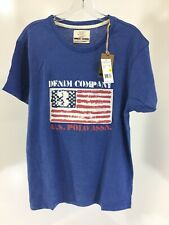 U.S. Polo Assn. Mens Short Sleeve Print T-Shirt Size Medium Heather Cobalt NWT