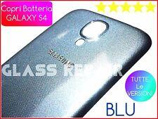BLU BLUE COVER POSTERIORE BACK SAMSUNG GALAXY S4 I9500 I9505 I9515 COPRIBATTERIA