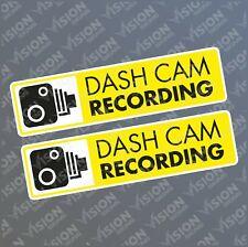 2 X Dash Cam Car Sticker Decal Stickers CCTV Video Recording in Car Camera
