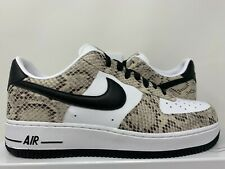 NIKE AIR FORCE 1 SNAKESKIN WHITE BLACK PRM 8.5 off supreme low high by you pythn