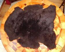 """Vintage Beautiful Premium Bowron Lambskin Rug, Fur Wool Sheep 36"""" x 32"""""""