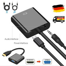 HDMI zu VGA Adapter mit Audio & Power Kabel 1080P HDTV Konverter neu