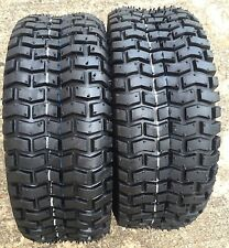 (2) Two 4.10/3.50-4 Deestone D265 Turf Tubeless Tires DS7011