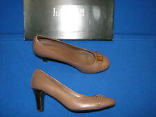 6 B Ralph by Lauren Shelbi Taupe Brown Ladies Womens Shoes High Heels Pumps Gold
