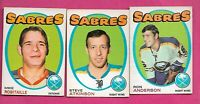 1971-72 OPC SABRES ANDERSON + ATKINSON RC + ROBITAILLE RC  CARD  (INV# J0515)