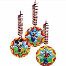 MICKEY MOUSE Fun and Friends HANGING DECORATIONS (3) ~ Birthday Party Supplies
