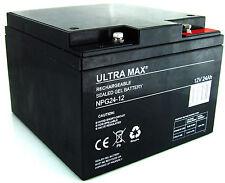 12V 24Ah (26Ah, 27AH, 28AH) Ultra Max NPG 24-12 Gel Mobilité véhicules Batterie