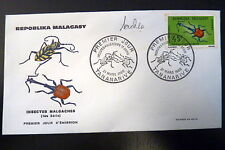 MADAGASCAR  421  PREMIER JOUR FDC     INSECTE CURCUIRONIDE       45F     1966