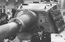 WW2 German King Tiger Tank Driver WWII B&W Photo Pzkpfw. VI Panzer World War Two