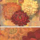 "36""x24"" FIESTA SUMMER II by PAMELA LUER WARM ORANGE RED AND WHITE FLOWERS CANVAS"