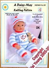 "DAISY-MAY *DOLLS KNITTING PATTERN *290* FOR  18"" to 20"" doll"