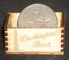Dollhouse Miniature Washington's Best Produce Crate 1:12 Scale (Washington, DC)