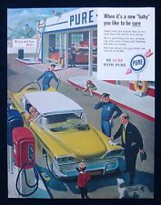 PURE OIL MOTOR CAR GARAGE AMERICAN MAGAZINE ADVERT c1940