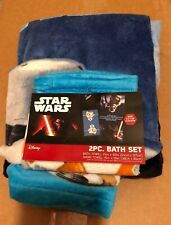 Disney Star Wars 2 Piece Bath Set Towel Wash Cloth